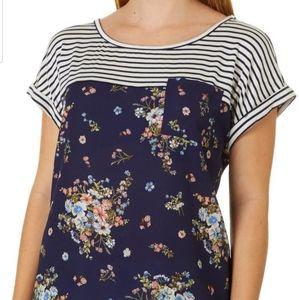 Rewind- Round Neck Juniors Plus Shirt